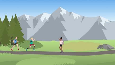 Chamonix Asters Trail motion design web
