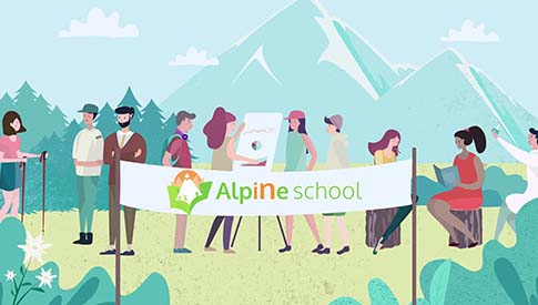 Alparc Youralps vidéo motion design Alpine School